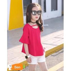 Áo thun bé gái sành điệu cá tính 1-8 tuổi