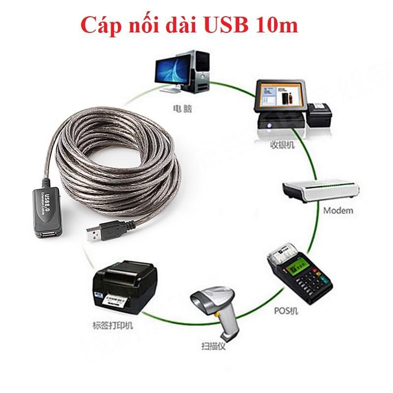 Cáp nối dài USB 10m có IC khuếch đại tín hiệu 1