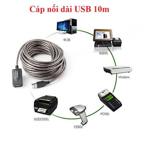 Cáp USB 10m có Chip cao cấp