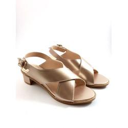 Giày sandal cao gót 3cm, quai chéo