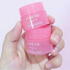 Mặt nạ môi LANEIGE Lip Sleeping Mask 3g - Mini Size - HỘP HỒNG - MOILANEIGE