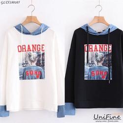 Áo hoodie nữ in hình cô gái-GLWT180105