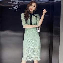 Đầm Ren Body Hai Lớp Cao Cấp mẫu 2018 Màu xanh như hình