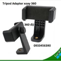 Pat xoay 360 kẹp điện thoại gắn tripod