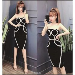 Đầm Cúp Ngực Bi
