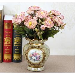 Lọ hoa gốm sứ hoa tròn