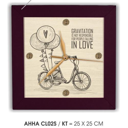 Đồng hồ tranh treo tường Bánh Xe tình yêu