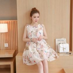 Đầm Bầu Kiểu Dáng Hàn Quốc Voan Hoa