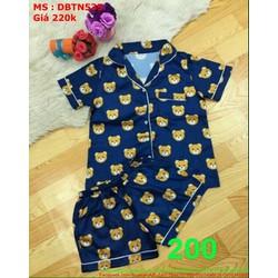 Sét mặc nhà nữ ngắn họa tiết chú gấu dễ thương đáng yêu DBTN535