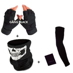 Combo đồ phượt Găng tay Black+KĐN Ngẫu Nhiên+Găng đi nắng