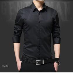 Áo sơ mi màu đen cao cấp chuẩn phom Hàn Quốc