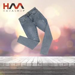 Quần jeans nữ rách đẹp xanh nhạt