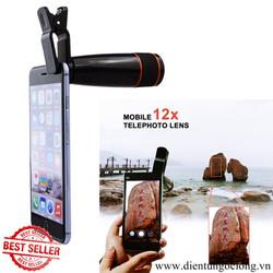 Lens Chụp Hình Tele Zoom 12X Đa Năng Cho Điện Thoại