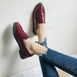 Giày loafer phối da ngang