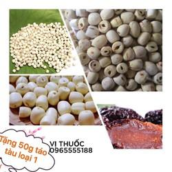 Hạt sen khô loại 1 gói 1kg hạt to bở-mua 3kg được tặng táo tàu