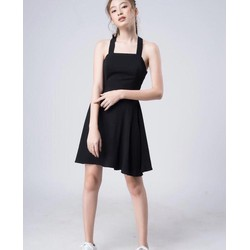 Đầm xoè chéo dây lưng HÀNG CÓ SẴN MÚT NGỰC