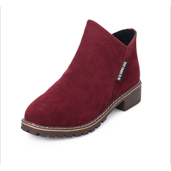 Giày bốt nữ phong cách Hàn Quốc - Màu Đỏ - KS231217