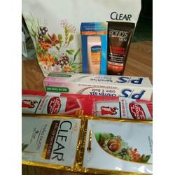 Túi mỹ phẩm và 5 sản phẩm chăm sóc cơ thể