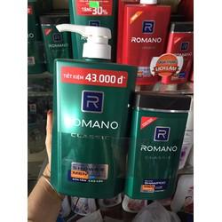 sữa tắm Romano 650ml tặng dầu gội 150ml