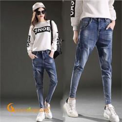 Quần baggy nữ quần jean baggy ghép GLQ056
