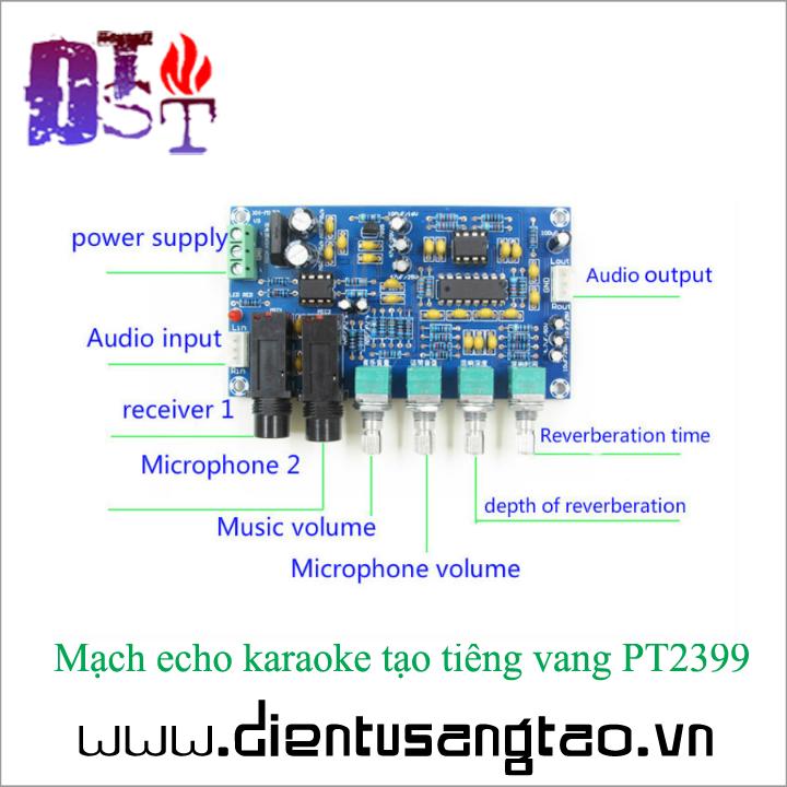 Mạch echo karaoke tạo tiếng vang PT2399 Full phụ kiện 3