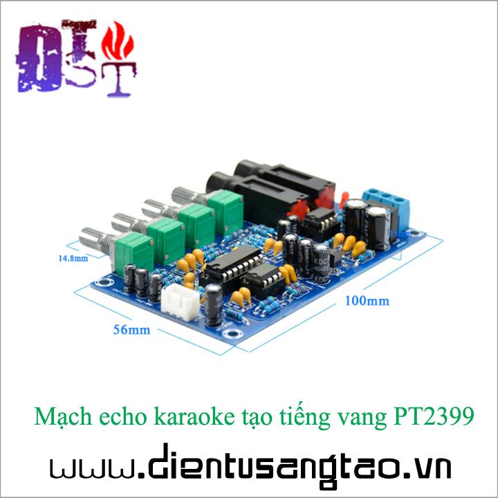 Mạch echo karaoke tạo tiếng vang PT2399 Full phụ kiện 2