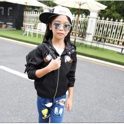 Áo khoác nón hình trước sau bé gái Size đại