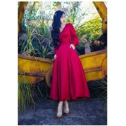 Đầm xoè tay dài phồng cực xinh