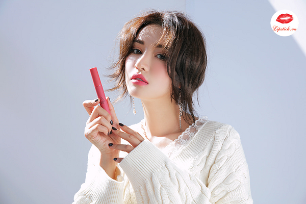 Son 3CE Velvet Lip Tint Pink Break Màu Hồng Đào 1