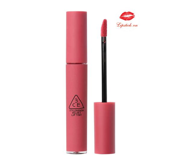 Son 3CE Velvet Lip Tint Pink Break Màu Hồng Đào 4