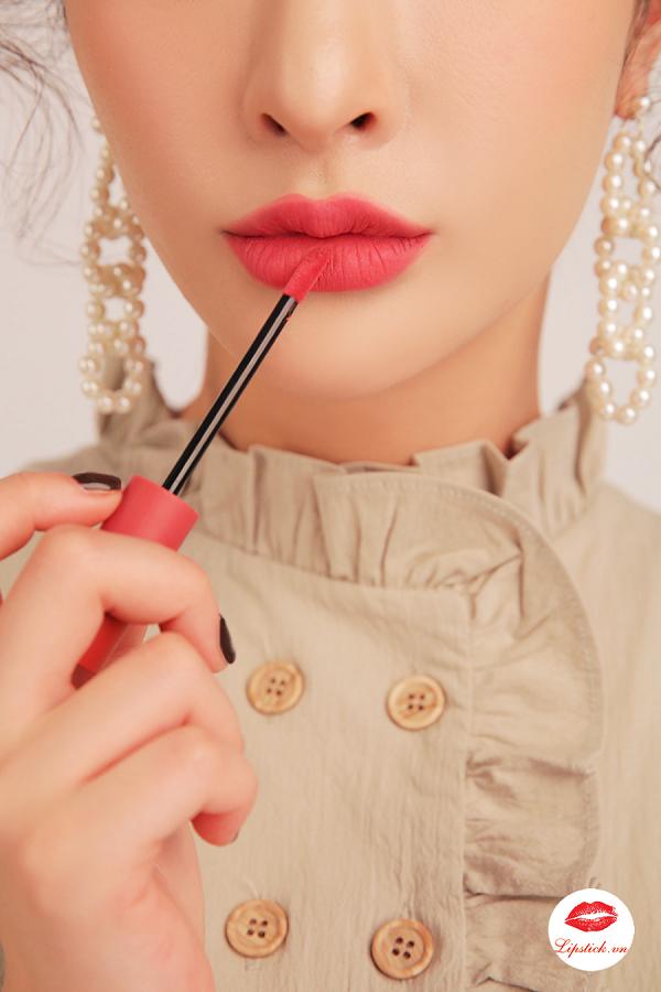 Son 3CE Velvet Lip Tint Pink Break Màu Hồng Đào 5