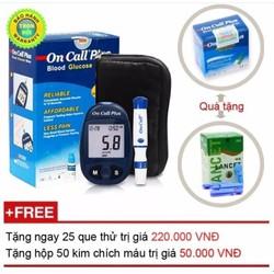 Máy đo đường huyết Acon On call Plus + Tặng ngay 25 test thử