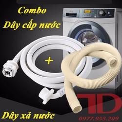 Combo dây cấp nước và xả nước máy giặt
