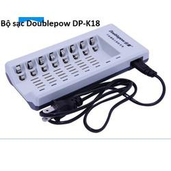 Bộ sạc nhanh Doublepow DP-K18 có 8 cổng sạc cho pin tiểu AA hoặc AAA