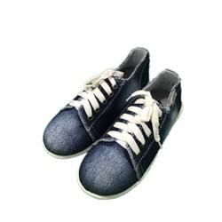 Giày jean trẻ em bata thắt dây vải jean