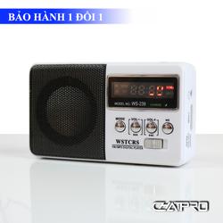 Radio Mini Nghe Nhạc Thẻ Nhớ, USB, Nghe Kinh Phật, Đài FM WS-239