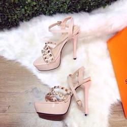 giày gót cao đính ngọc