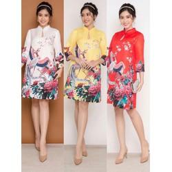 Đầm suông họa tiết