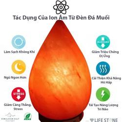 [Trợ Giá] Đèn Đá Muối Himalaya Hình Giọt Nước 3kg Size Lớn Nhập Khẩu