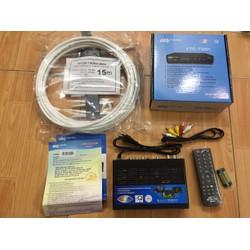 Đầu thu  truyền hình số mặt đất DVB T2 VTC T201 tặng anten  dây 15M