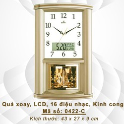 Đồng hồ Quả xoay có Lịch điện tử, Nhiệt kế và Nhạc Báo giờ