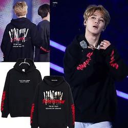 Áo hoodie Kpop BTS Jimin phong cách hiphop cực ngầu