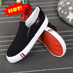 giày lười vải nam mẫu mới 2018 GLK109