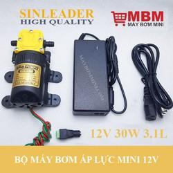 Máy bơm mini 12V 30W XLD kèm nguồn điện