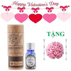 Quà valentine - Hộp tinh dầu hoa nhài tặng 1 xà bông hoa chùm