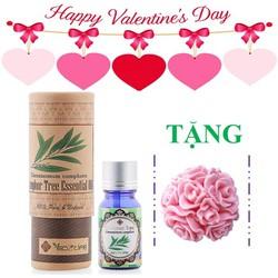 Quà valentine - Hộp tinh dầu long não tặng 1 xà bông hoa chùm