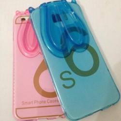 Samsung Galaxy S6 - Ốp lưng nhựa mềm hình tai thỏ cho điện thoại