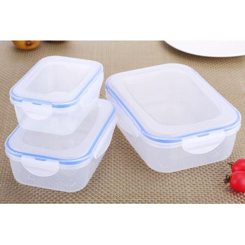 Bộ 3 hộp nhựa - SSGP - 20cm, 16.5cm, 13.5cm