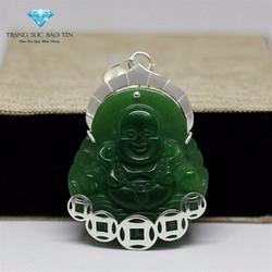 Mặt Dây Chuyền Mặt Phật Di Lặc Đá Màu Xanh Lá - Trang Sức Bảo Tín