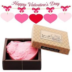 Quà valentine - Hộp xà bông dưỡng da trái tim hồng